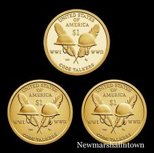 2016 P+D+S Native American Sacagawea Set ~ Proof and PD from U S Mint Roll
