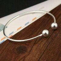Women Stainless Steel Open Cuff Bracelet Bangle Chain Wristband Jewelry Gift New