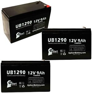 3-pack Apc smart-ups 1500 2200 1000 Battery UB1290 12V 9Ah Sealed Lead Acid AGM