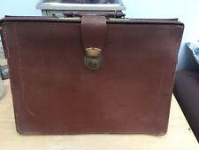 Vintage 1950's Brown Leather Mens Gladstone Doctors Bag Case Renovation Project