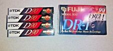 4 TDK D-90 Type I and  6 FUJI DR-1 90 Audio Blank Cassettes New Sealed -10 total