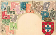 Portugal,Postcard Showing Stamps from Portugal,Embossed,Ottmar Zieher,c.1901-06
