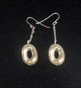 Vintage 1980\u2019s Hammered Style Sterling Silver Pierced Earrings