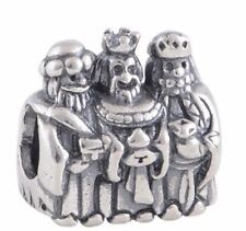Family Argento 3 re magi Kings Charm Charms Slide PD Europea Natale Calza UK