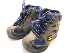 Paw Patrol Toddler Boys Winter Boots Size 5 Dark Grey & Navy Blue Lace up Nwt