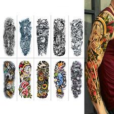 10 Sheets Fake Temporary Tattoo Sticker Arm Body Art Sticker Waterproof Black US