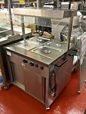 Quantum Heated Carvery Display Hot Cupboard Wet Bain Marie 2 Lamp Gantry Mobile