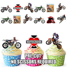 Motocross Bike Motorbike Party Pack 36 Edible Cup Cake Toppers Mens Boys Son