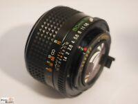 Mamiya Sekor EF Objektiv 1,4/50 mm Ø 49 Standardobjektiv für SLR Kamera 35 mm