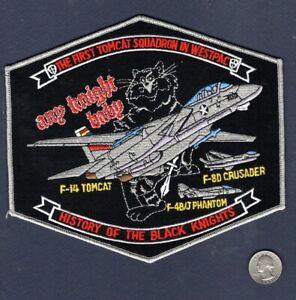 VF-154 BLACK KNIGHTS History US NAVY F-14 Tomcat F-4 F-8 Squadron Patch