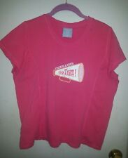 """Coral Colored """"Canyon River Blues"""" Girls Plus Size 20 &1/2 Cheerleader T-Shirt"""