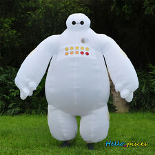 Inflatable White Big Hero 6 Baymax ROBOT Cosplay Halloween Party Consume Adult