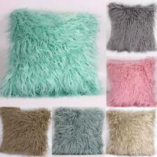 Fashion Faux Fur Throw Pillow Case Sofa Cushion Cover Pillowcases Home Decor