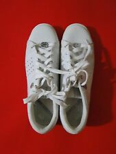 MARC ECKO RED RHINO PHRANZ WHITE SNEAKERS WHITE/SILVER LEATHER Sz 10 Sequins *