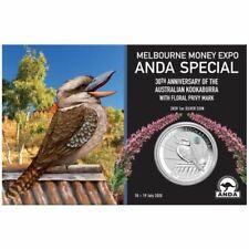 AUSTRALIE 1 Dollar Argent 1 Once Kookaburra Colorisée Marque Expo MELBOURNE 2020