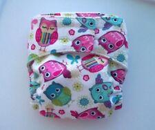 Newborn/Xs fitted Cloth Diaper - Owls