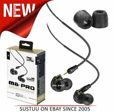 MEE Audio M6 PRO Earphones│Replaceable Cable│Universal Control Microphone│Black│