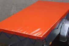 Flachplane nach Maß bis 3.50 Meter Länge LKW Plane 680 gr/m²  Orange