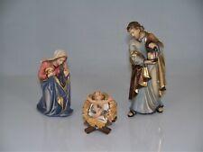 Holz Krippenfiguren HEILIGE FAMILIE H 8 cm geschnitzt color. Krippen Figuren Hl.