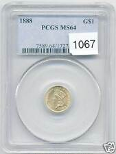 USA ETATS-UNIS 1$ OR GOLD INDIAN PRINCESS HEAD 1888 PCGS MS 64 !!!!!