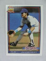Jack Daugherty Texas Rangers 1991 Topps Baseball Card 622