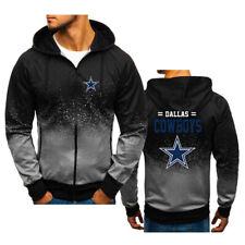 Dallas Cowboys Gradient Hoodie Splash-Ink Hooded Sweatshirt Fans Sports Jacket