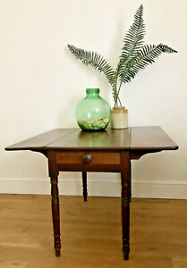 Antique Pembroke Folding Table - Small Dining, Occasional, Victorian Mahogany