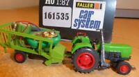 Faller Car System 161535 Deutz Traktor mit Anhänger Epoche 4/5 gut erhalten,OVP