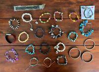 Modeschmuck Konvolut Posten - Armbänder - ua. Perlmutt und Perlen (5)