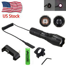 IR 940nm Night Vision Infrared LED Zoom Flashlight w/Scope Mount+Remote Switch