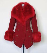 Vivienne Westwood Vintage Faux Fur Red Wool Coat IT42