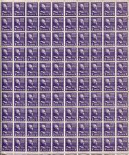 100 USA SC# 807 Full Sheet Stamps Postage Plate Thomas Jefferson MINT NH