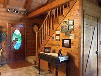 84 Acres, Log Home, Lake, Huge Workshop, Secluded, nature lover's heaven