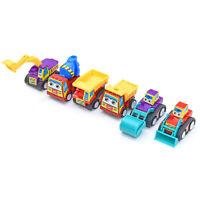 HN- 6pcs Kids Children Mini Small Truck Vehicle Pull Back Car Boy Girl NewYear T