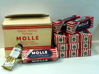 """1 Boite complète de 12 tubes à raser """"Mollé"""" original US WWII"""