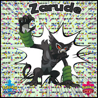 Pokemon Sword and Shield Zarude & Shiny Celebi 6IV Pokemon the Movie Coco