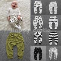 Kid Baby Boy Girl Elastic Harem Pants Toddler Trousers Leggings Printed Bottoms