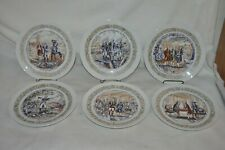 "6 vintage 8"" French Limoges Henri D' Al vintage # Patriotic Collector Plates Nm"