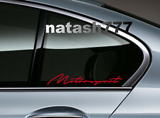MOTORSPORT Performance Racing Sport Car Window Vinyl Decal sticker emblem RED