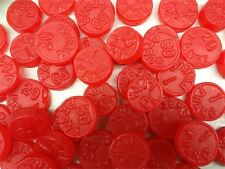 Red JuJu Coins 5 POUND Classic Cherry Flavor Bulk Candy FREE SHIPPING