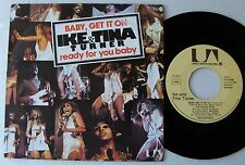 "Ike & Tina TURNER Baby, get it on / Ready for you baby FRENCH 7"" w/PS U.A.(1975)"