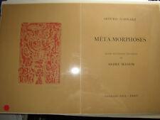 Andre' Masson - Rare - Book Etching - Unique - Signed