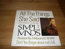 Simple Minds-all the things she said.12""