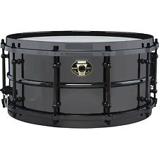 "Ludwig drums Black Magic 6.5"" x 14"" Black Nickel over Brass snare drum LW6514"