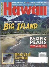 Hawaii Magazine May / June 2002 Big Island Pacific Peaks Monk Seal Lilo & Stitch