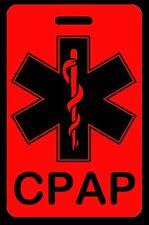 Hi-Viz Red CPAP Carry-On Bag Tag - CPAP BiPAP APNEA POC