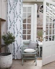Vorhang Gardine Set 110x240 Schal Shabby Vintage Landhaus Stil Scandi Weiß Grün