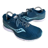 Saucony Guide 13 Womens Sz 10 Blue Athletic Walking Trail Running Sneakers Shoes