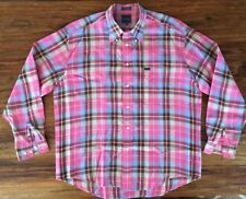 Mens Faconnable 100% Linen Long Sleeved Shirt XL Fits Like A XXB
