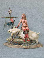 Pin Up Girls: Warrior girl on the skull 90 mm Elite tin soldiers St. Petersburg